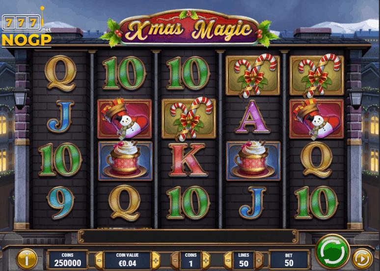 Xmas magic video slot screenshot