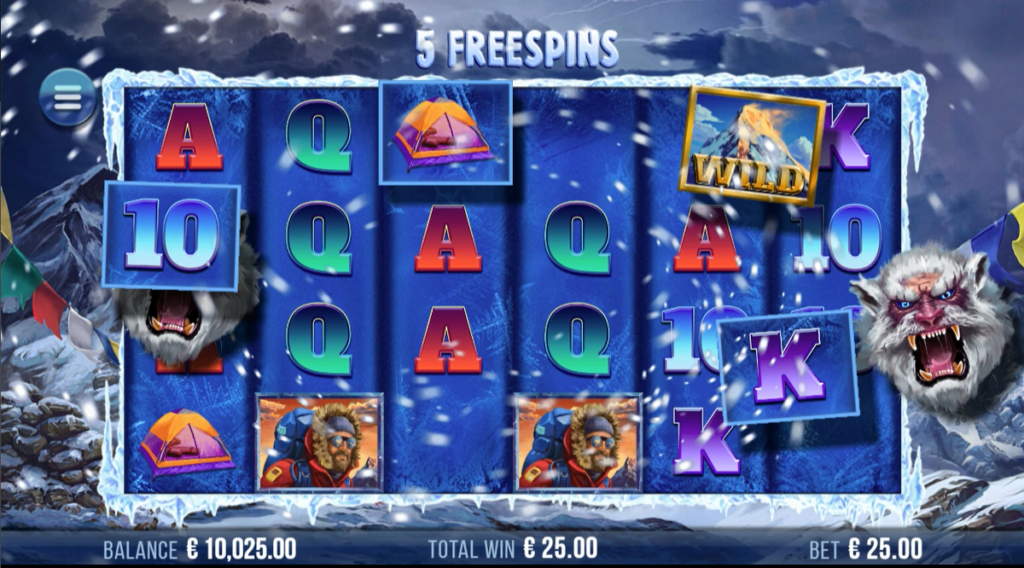 9K Yeti video slot  - Free spins feature