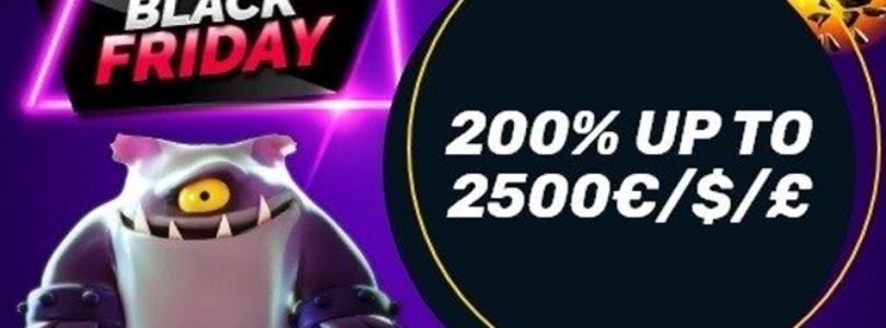 Campeonbet pakt uit met Black Friday: 200% tot €2500,- + €10000,- geldprijzen.