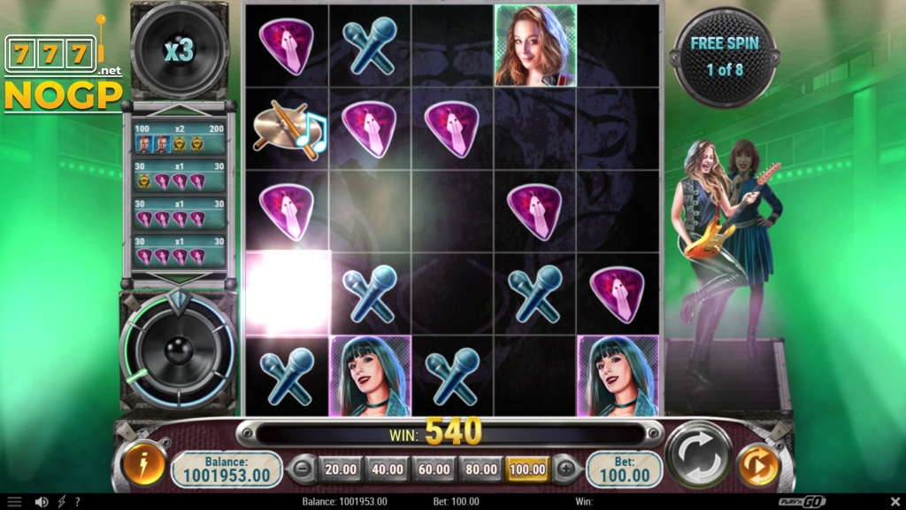 Black Mamba video slot - Free spins feature