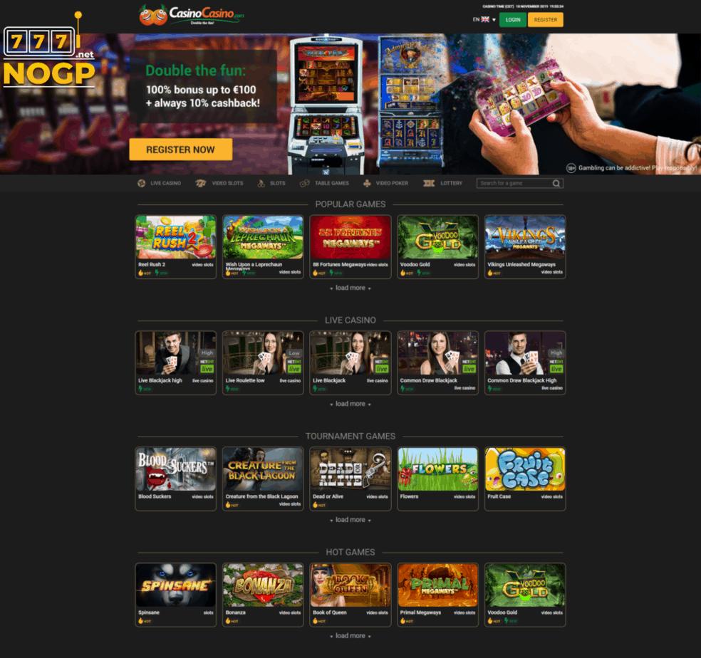 CasinoCasino's homepage