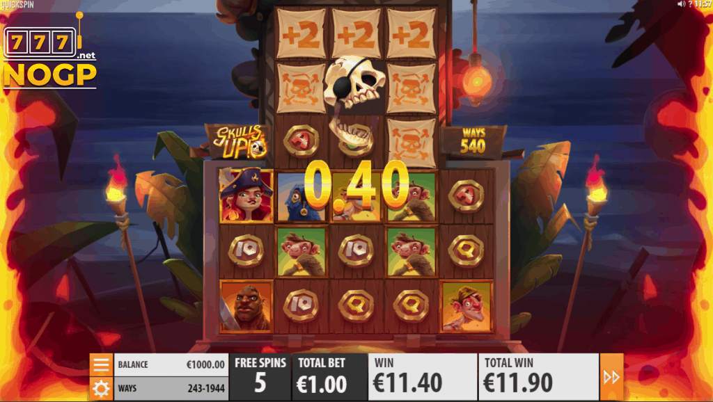 Skulls UP! Free Spins feature
