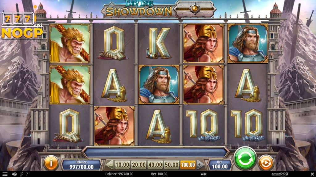Play'n GO's Divine Fortune slot - Screenshot