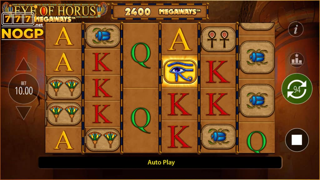 Eye of Horus Megaways slot screenshot