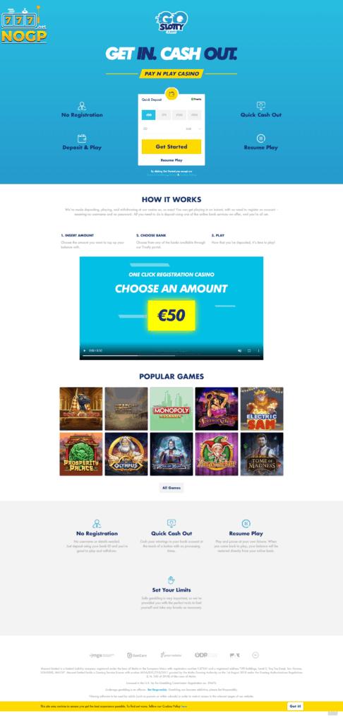 GoSlotty homepage