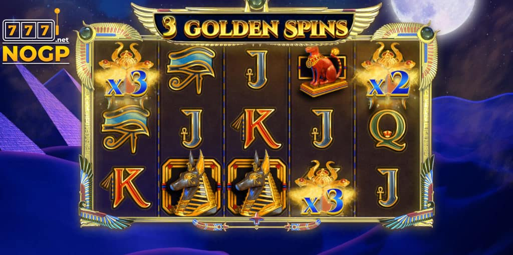 Jewel Scarabs slot - Golden spins feature
