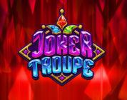Joker Troupe video slot logo