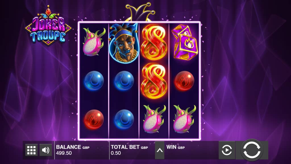 Joker Troupe video slot screenshot