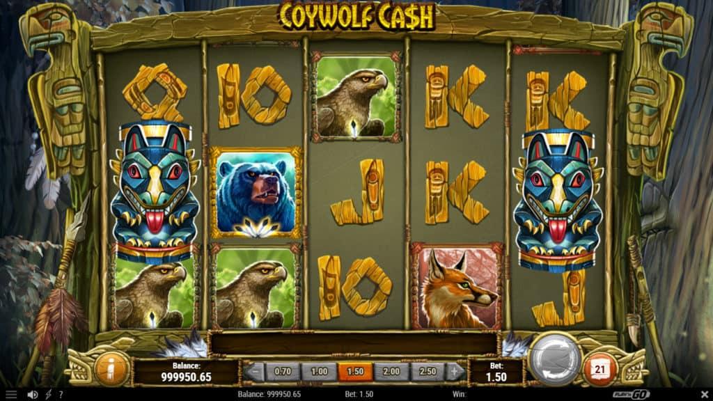 Coywolf Cash video slot screenshot