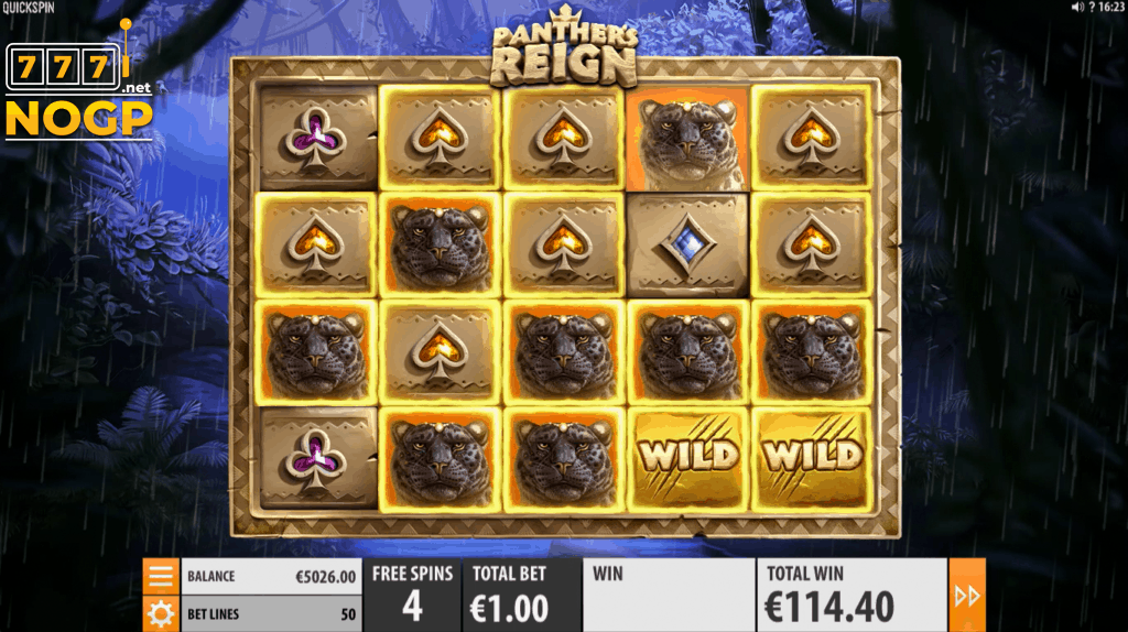 Panthers Reign video slot - Free Spins feature