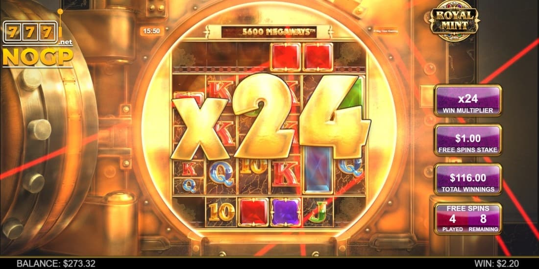 Royal Mint Megaways free spins feature