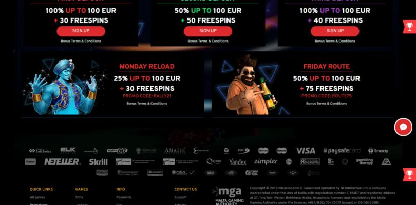 N1 Casino heeft €300,- en 120 gratis spins voor u klaarliggen.