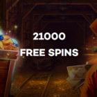 21.com Casino is giving away 21,000 free spins.