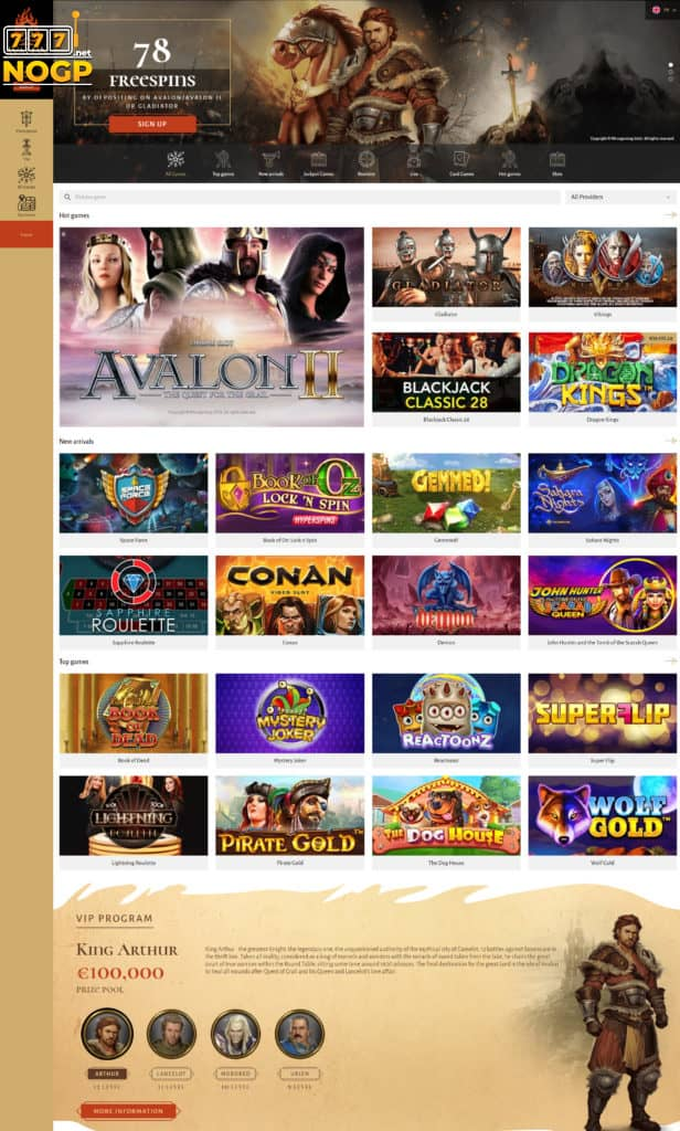 Avalon 78 Casino screenshot