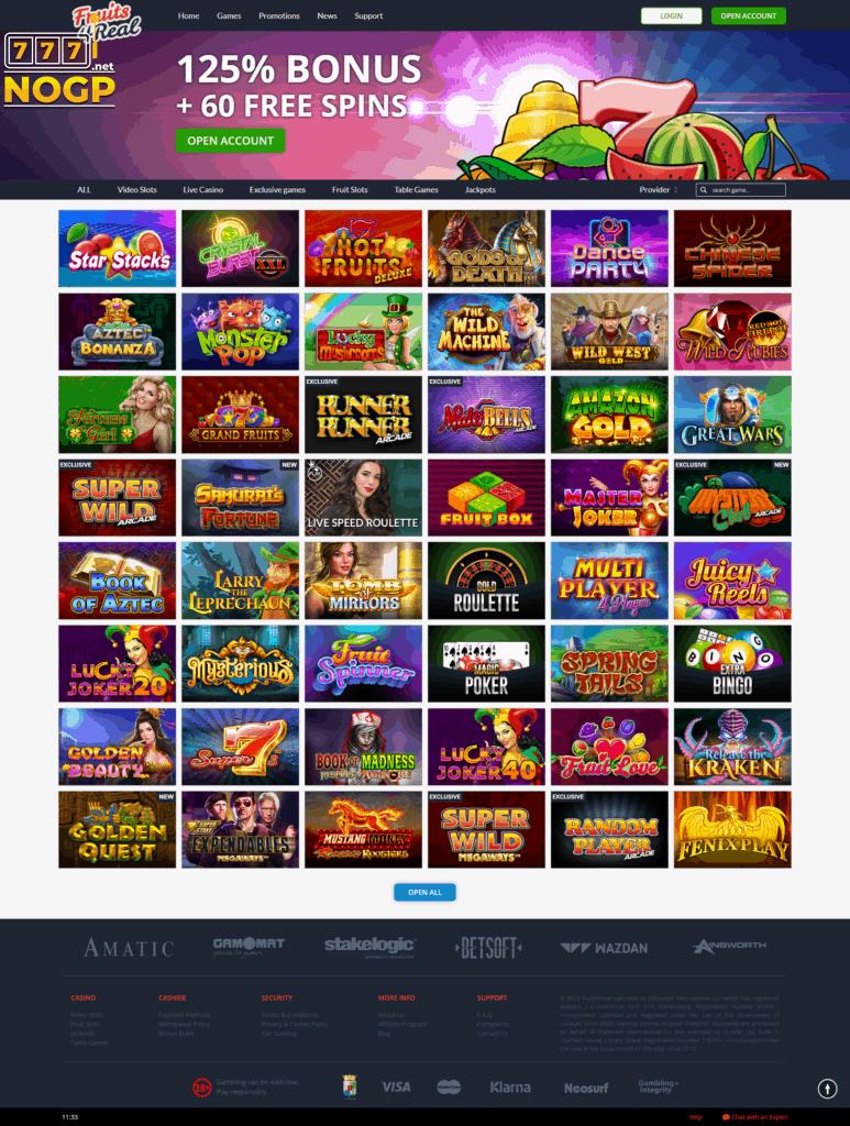 Fruits4Real Casino screenshot