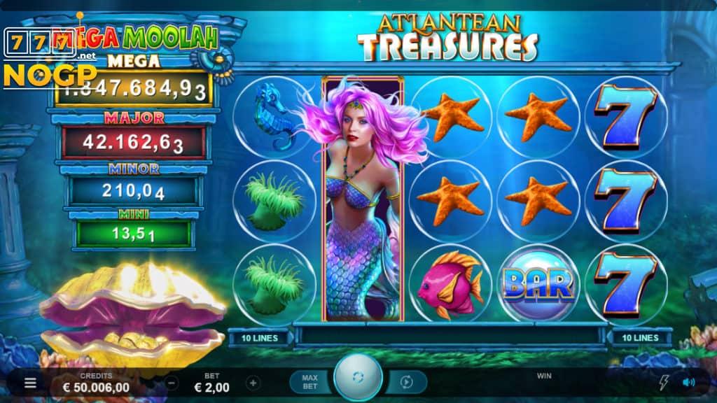 Atlantean Treasures: Mega Moolah videoslot