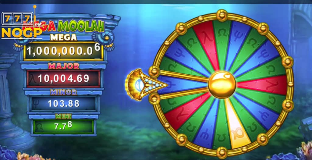 Atlantean Treasures Mega Moolah - Wheel