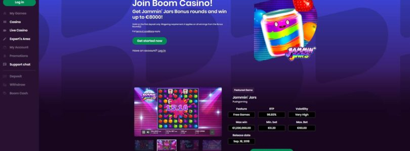 Boom Casino doubles your first deposit up to $/€500.