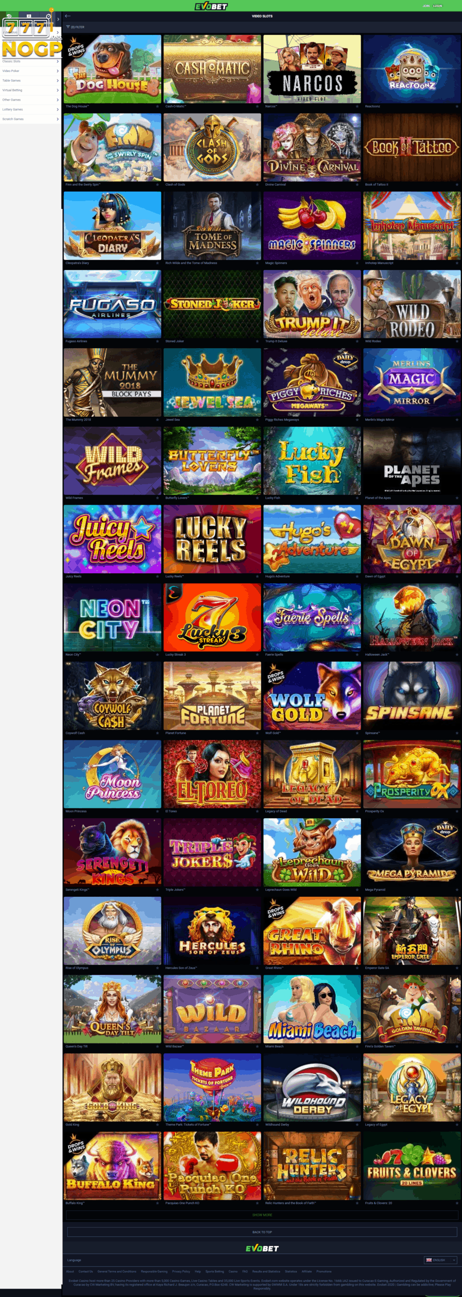 Evobet Casino Bonus Codes 2021