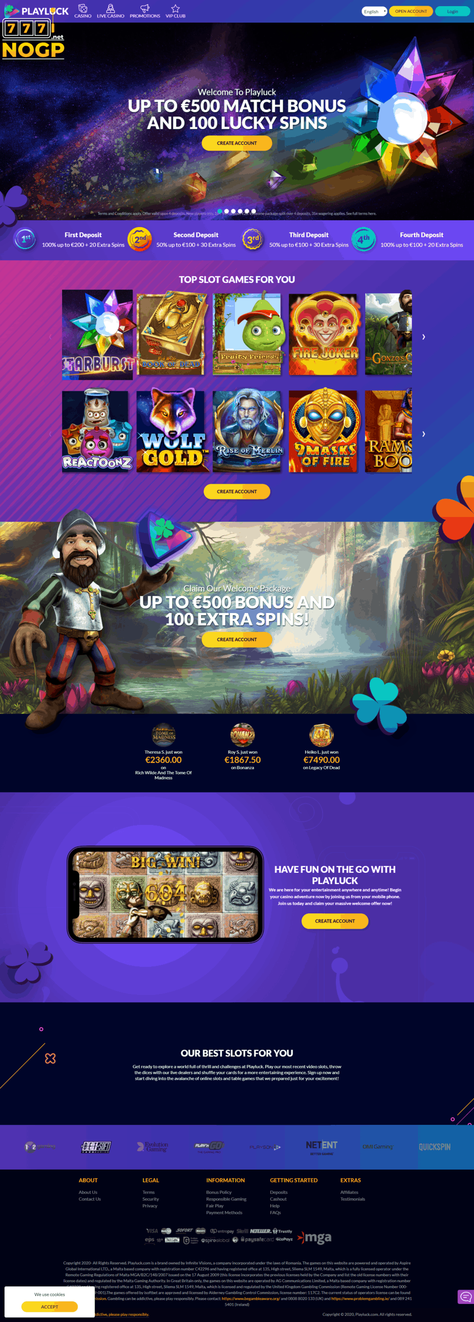 Casino sign up offers