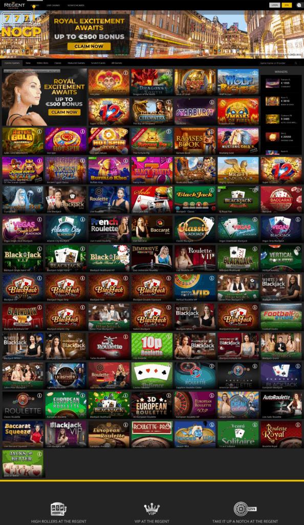 Regent Casino screenshot 2020