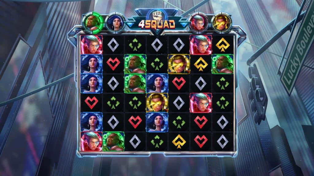 4Squad video slot screenshot