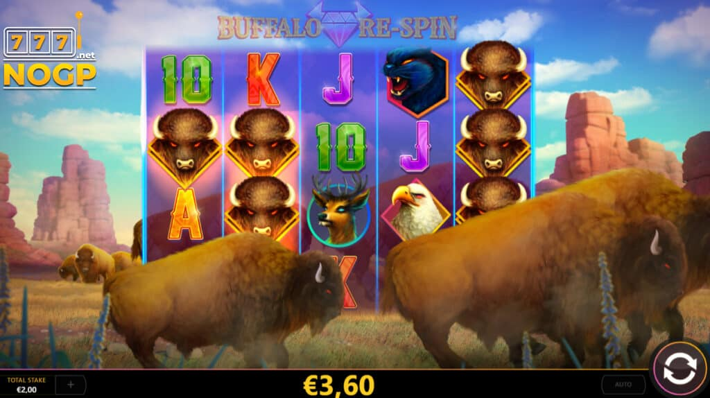 Buffalo Re-spin slot - Respin feature