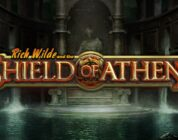 Shield of Athena video slot logo