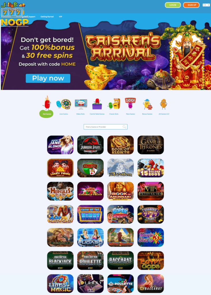 Jellybean Casino screenshot