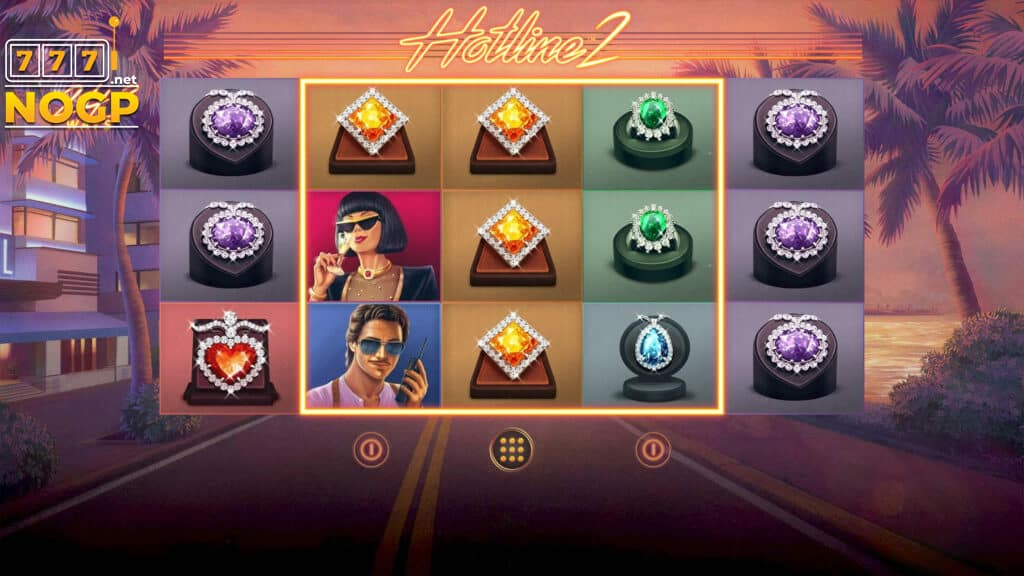 Hotline 2 video slot screenshot