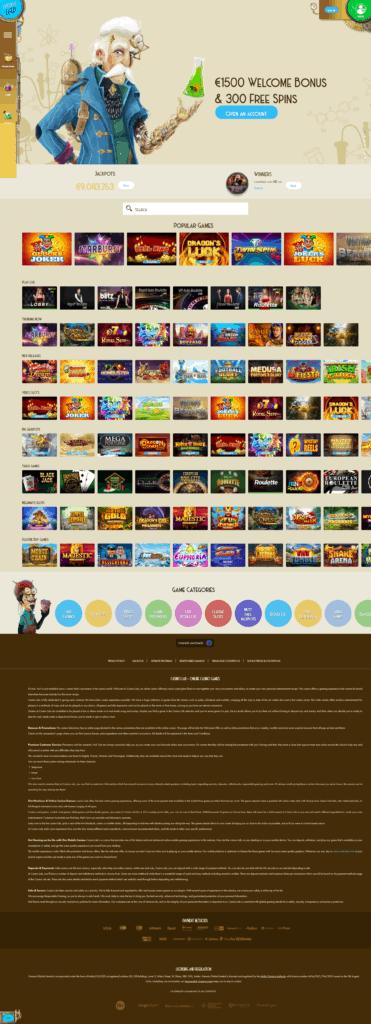 Casino lab's homepage