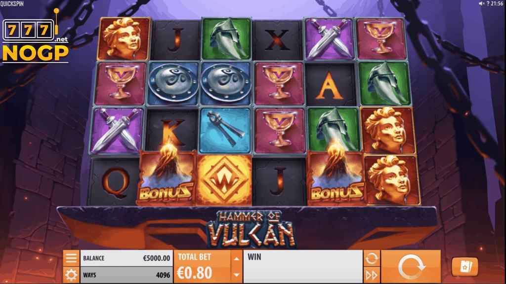 Quickspin's Hammer of Vulcan slot screen