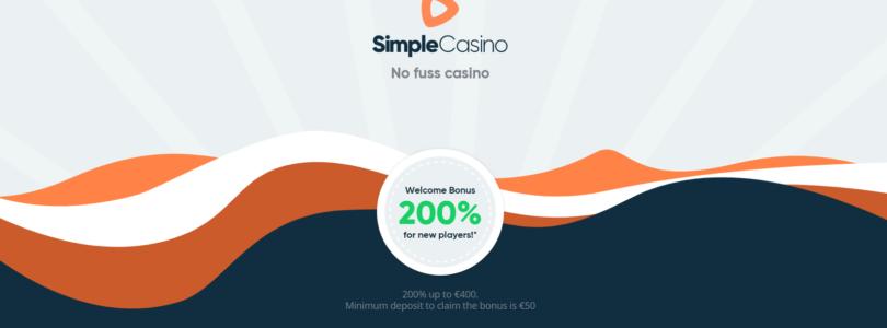 Maak uw eerste storting bij Simple Casino en deze wordt verdrievoudigd.