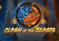 Clash of the Beasts video slot logo