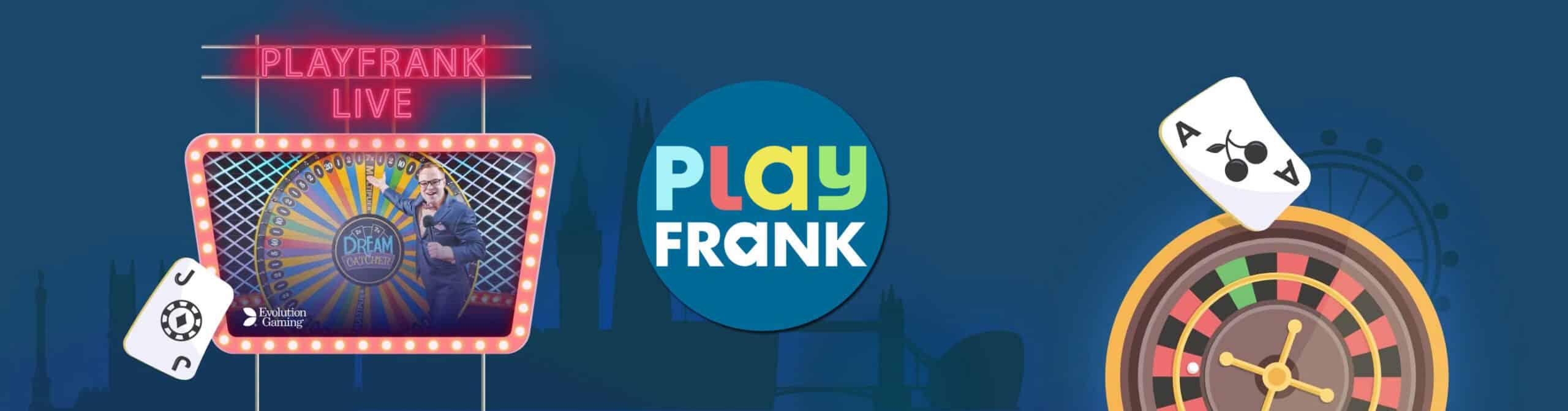 PlayFrank Casino live casino spellen.