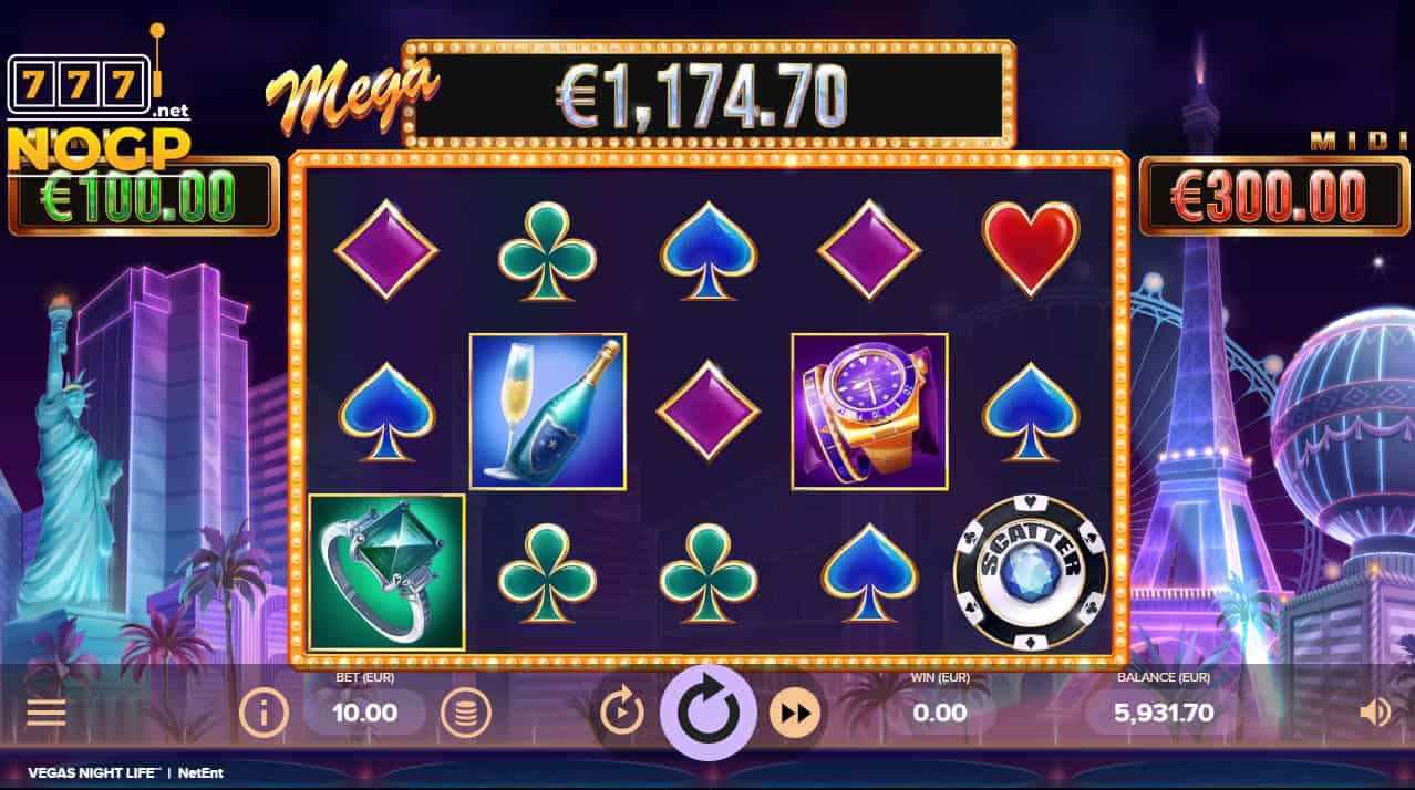 NetEnt's Vegas Night Life slot