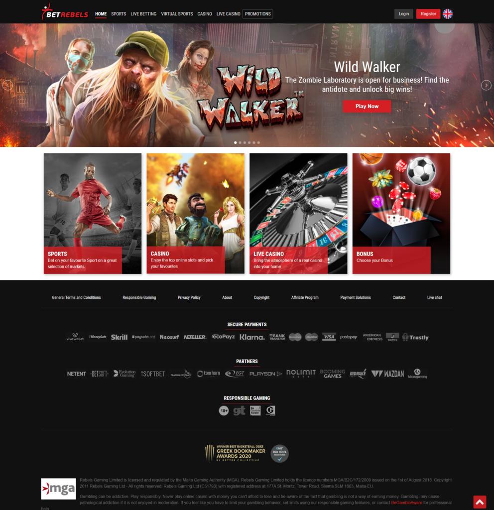 Homepage Betrebels