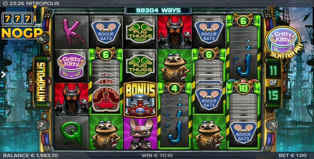 NitroPolis slot free spins feature
