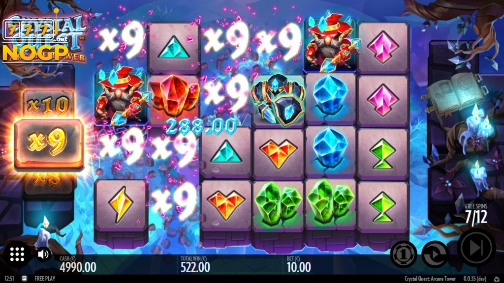 Crystal Quest: Arcane Tower - Free spins feature