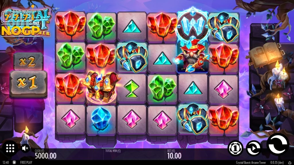 Crystal Quest: Arcane Tower. video slot screenshot