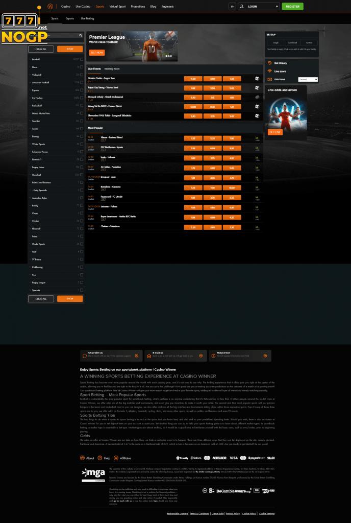 Casino Winner Sports screenshot