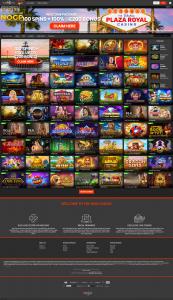 Plaza Royal screenshot homepage