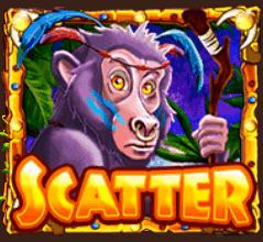 Jungle Mega Moolah - Apen scatter symbool