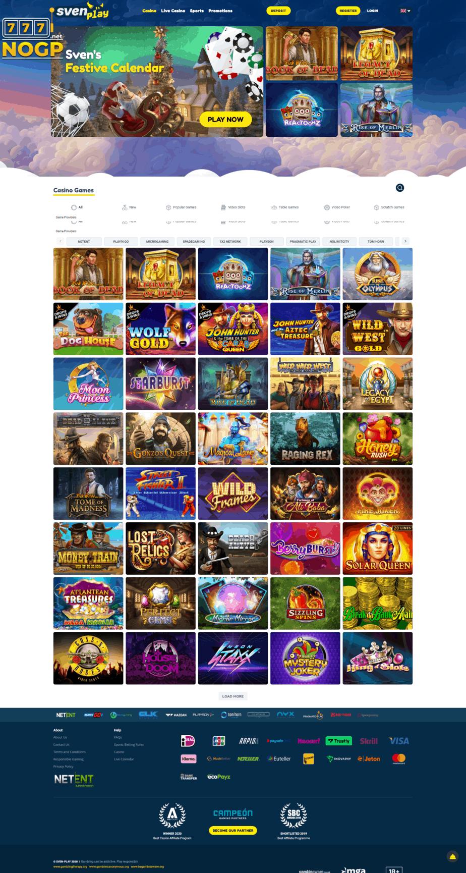 Svenplay Casino screenshot