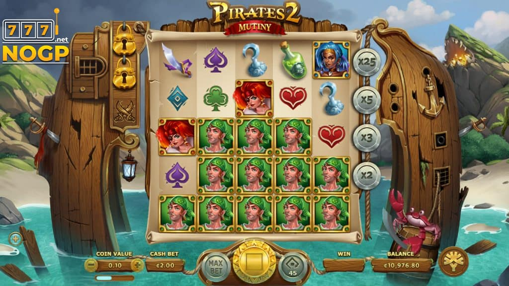Yggdrasil's Pirates 2 Mutiny video slot