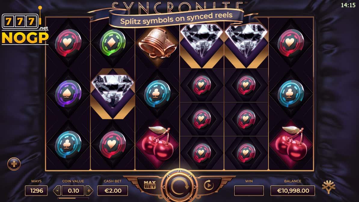 Syncronite Splitz video slot screenshot