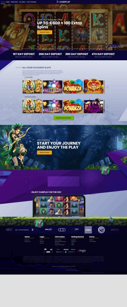Casiplay Casino screenshot February 2021