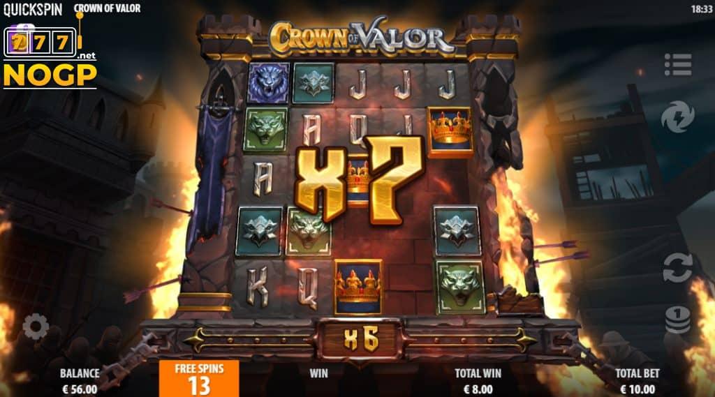 Crown of Valor - Free spins bonus