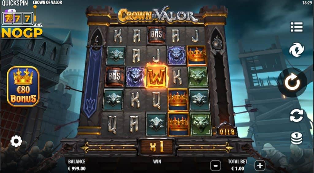 Crown of Valor gokkast Quickspin