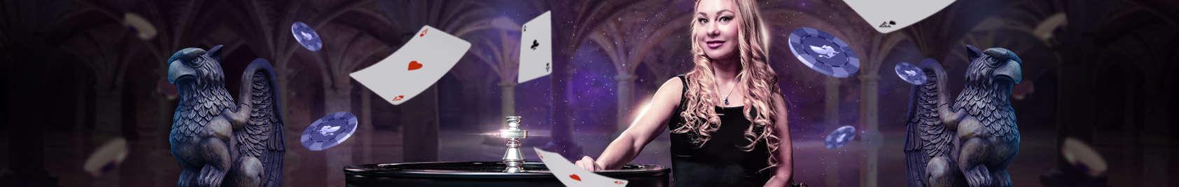 Speel live casino games bij Griffon Casino.